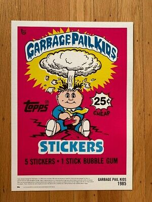 Topps 80th Anniv. Garbage Pail Kids Series 1 wax pack wrapper art 10x14 poster