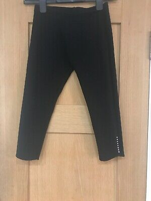 Next Girls Black Cropped Leggings Trousers Age 10 Years