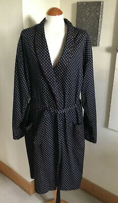 Vintage St Michael M&S Navy Shawl Neck Dressing Gown Smoking Jacket. X Large.