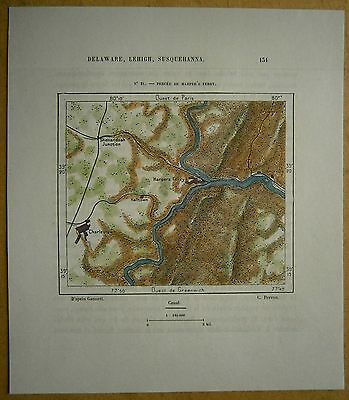 1892 Perron map BREACH AT HARPERS FERRY, WEST VIRGINIA (#21)