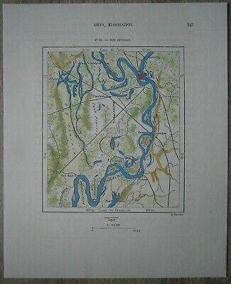 1892 Perron map CONFLUENCE OF MISSISSIPPI AND OHIO RIVERS, CAIRO, ILLINOIS (#87)