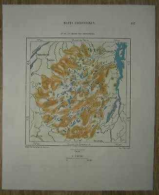 1892 Perron map ADIRONDACK MOUNTAINS, NEW YORK STATE (#19)