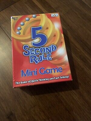5 Second Rule Quiz Game Mini Travel Drinking Game Categories