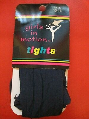 *Nwt*  Girls In Motion Tights     Size 12-14