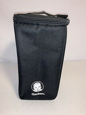 "GERBER BABY MINI COOLER FRIDGE TRAVEL BAG  BLACK 9""x4.5""x4"""