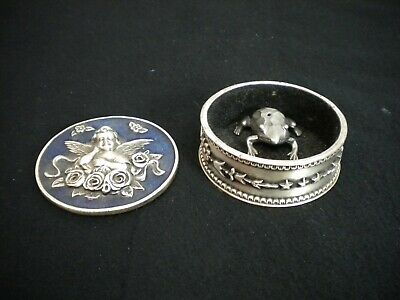 Metal Trinket Box W/ Mini Frog Trinket Box Included (Gently Preowned)