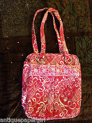 Vera Bradley PERFECT POCKET TOTE in TWIRLY BIRDS PINK, great pre loved condition