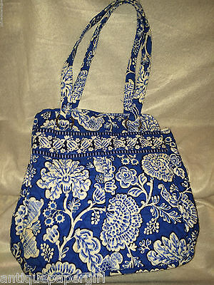 Vera Bradley PERFECT POCKET TOTE in BLUE LAGOON, great pre loved condition