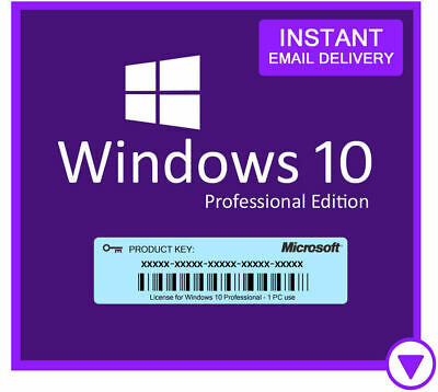 Microsoft Windows 10 Pro Genuine Activation Key For 32/64-Bit PC eBay Delivery