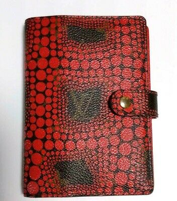Authentic Louis Vuitton Yayoi Kusama Agenda Pm Day Planners Cover Monogram Red