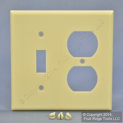 Leviton Ivory EXTRA DEEP Combo Toggle Switch Duplex Outlet Cover Wallplate 86305