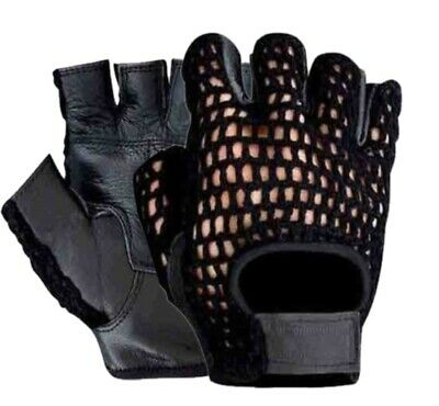 Gym Weight Lifting Leather Training Workout Bodybuilding Unisex Fitness Gloves