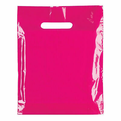 Strong Biodegradable Cerise Fuscia Pink Plastic Carrier Bag Plastic Shopping Bag