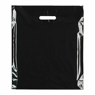 Strong Biodegradable Black Plastic Carrier Bag Coloured Plastic Shopping Bags