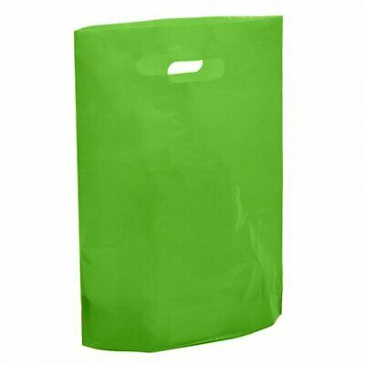 Strong Biodegradable Light Apple Green Plastic Carrier Bag Plastic Shopping Bags