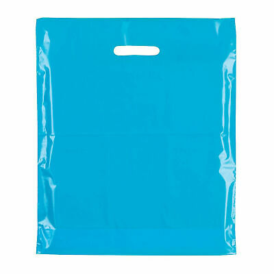 Strong Biodegradable Light Sky Blue Plastic Carrier Bag Plastic Shopping Bags