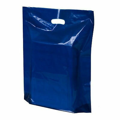 Strong Biodegradable Dark Navy Blue Plastic Carrier Bags Plastic Shopping Bags