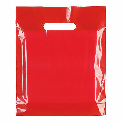 Strong Biodegradable Red Plastic Carrier Bags Red Plastic Shopping Carrier Bags