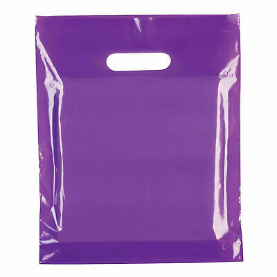 Strong Biodegradable Purple Plastic Carrier Bags Coloured Plastic Shopping Bags