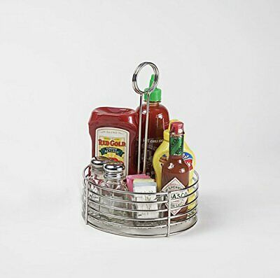 G.E.T. Enterprises Stainless Steel Round Stainless Steel Condiment Caddy