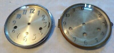 2 x Antique/Vintage Chiming Mantel Clock BEZELS  & FACE GLASS,  Spares/Repair