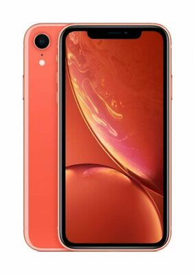 """Apple iPhone XR A2105 Mobile Smartphone 12MP 6.1"""" IOS 64GB Coral Unlocked~"""