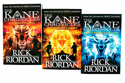 Kane Chronicles Series 3 Books Young Adult Set Paperback By Rick Riordan