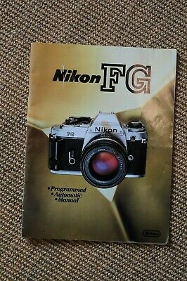 1980s Nikon FG brochure. Minor marks. A4 sized. 23 pages.