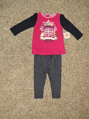 Juicy Couture Girls 2 Piece Jegging Set - Size 5 - NWT