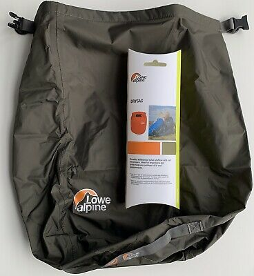Lowe Alpine Drysac. New 20 Litre Waterproof Roll-Top Stuff-Sac to keep items dry
