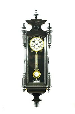 Gorgeous Antique German Carl Werner Spring Driven Wall Clock approx.1870
