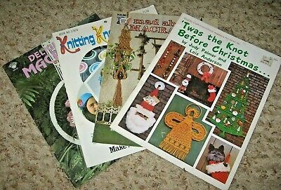 Vintage~Lot Of 4 Macrame Booklets ~Gd/Vgc~Lot #A