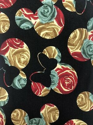NWT LuLaRoe Disney Leggings One Size OS Mickey Minnie Mouse Rose Floral 201084