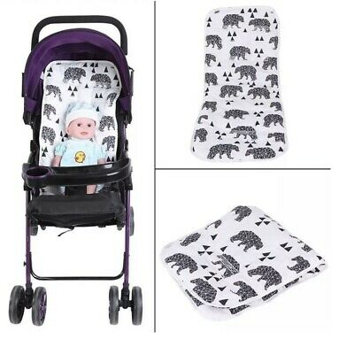 Reversible Baby Seat/ Stroller Cushion Pad, Universal (white/ Black Bear)