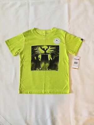 NWT Quiksilver Boys Green Tiger T-Shirt Top Tee Size 2T Kids/Toddler/Children