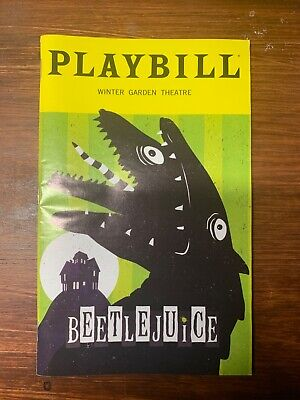 Beetlejuice Broadway Playbill October 2019 Limited Snake Edition with slip