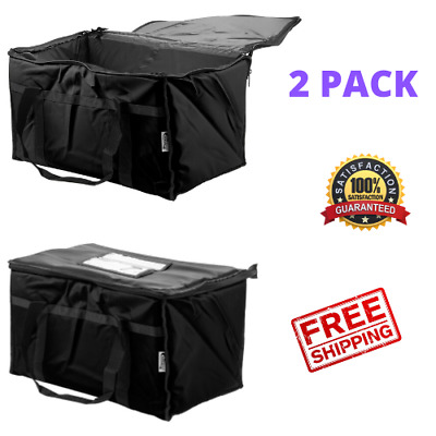 2pack Insulated Catering Delivery Food Full Pan Carrier Hot Cold Cooler Bag