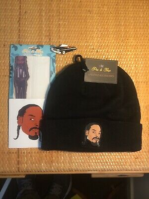 Snoop Dogg Beanie+Snoop DeVille Pin+Air Freshener Pack+Sticker.