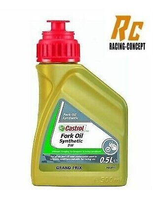 500ml HUILE FOURCHE MOTO CASTROL RACING FORK OIL 5W 100% Synthese (scooter)