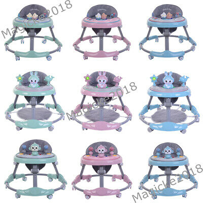 New Baby Walker First Step Push Along Bouncer Activity Toys Toddler Learning Car
