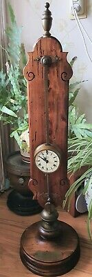 Rare Gravity Clock Warmink Saw Clock With Cow Tail Front Pendulum Vintage