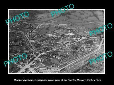 OLD LARGE HISTORIC PHOTO OF HEANOR ENGLAND, THE MORLEY HOSIERY WORKS c1930