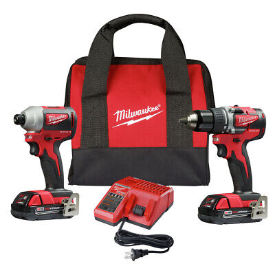 Milwaukee 2892-82CT M18 1/2 in. Drill Driver and 1/4 in. Impact Driver Kit Recon