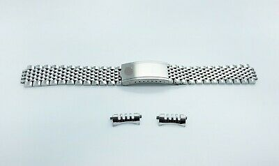 New 18mm Omega Watch Beads of Rice Solid Stainless Steel Replacement Bracelet
