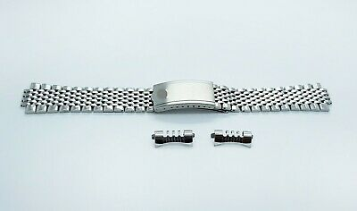 New 20mm Omega Watch Beads of Rice Solid Stainless Steel Replacement Bracelet