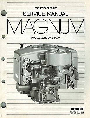 "Kohler Magnum Mv16 Mv18 Mv20  Engine Service Manual ""New"""
