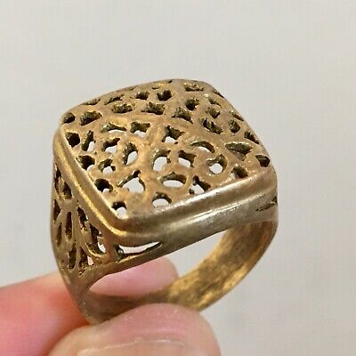ANCIENT Rare Roman RING Bronze Legionary Old Extremely Authentic Artifact