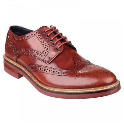 Base London Woburn Mens Tan Leather Lace Up Country Brogues Shoes Size 7-12