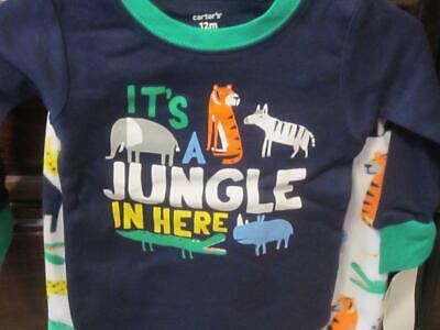 Carters Toddler Boys Blue It/'s A Jungle In Here Animal Pajama Sleep Set