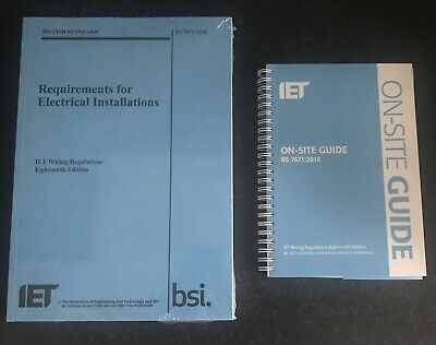 BS 7671 & OSG 2018 18th Edition On Site Guide & Wiring Regulation